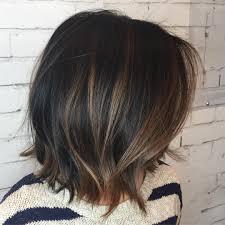 Hair Color Black Choppy Bob With