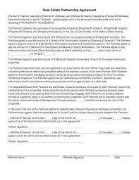 Partner Contract Sample Magnificent 48 Sample Agreement Templates In Microsoft Word