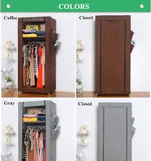 Small compact non-woven fabric cheap bedroom wardrobes