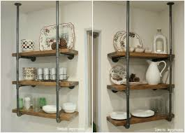 Great DIY Industrial Pipe Kitchen Shelving