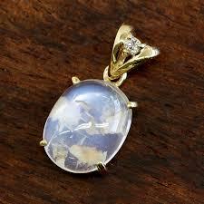 myanmar rutile blue moon stone 10k gold necklace top las ルフィナスペンダントトップダイヤモンド super rare stone rare jewel large drop of cabochon k10 10