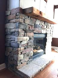 stone veneer over brick cost to install exterior fireplace diy s