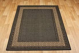 greek anti slip flatweave rugs black runner