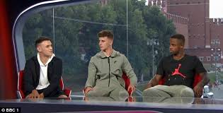 Individuals from both sides received esteemed acclaim, but the maturity and quality shown by phil foden and mason mount, two of england's brightest young players, particularly caught the eye. Phil Foden Ryan Sessegnon And Mason Mount Meet Alan Shearer In Russia Daily Mail Online