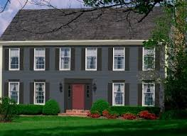 red door grey house. Find This Pin And More On House Colors Gray With Black Trim Red Door Grey