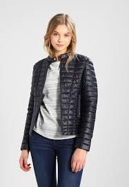 guess vona faux leather jacket new navy blue lo41918