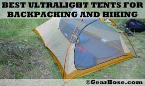 best ultralight tents for backng