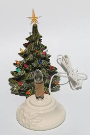 Relive Christmas Is Forever Lighted Tabletop Ceramic Tree 14 5 Ceramic Tabletop Christmas Tree With Lights