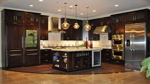 Kitchen With Granite Dark Brown Kitchen Cabinets With Granite