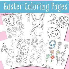 Easter crafts, bunny pages, flowers and more! Easter Counting Coloring Pages Easy Peasy And Fun