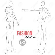 Body Template For Designing Clothes Womans Figure Sketch Different Poses Template For Drawing