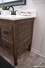 build bathroom vanity. Lavender-master-bathroom-makeover-Thrift-Diving-9548 Build Bathroom Vanity