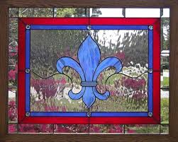 new orleans fleur de lis stained glass window