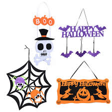 <b>Halloween</b> Decorative Supplies Skull Hanging Ghosts Pumpkin ...