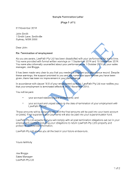Termination Letter Template Termination Letter Poor Performance Free Template
