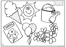 Spring Color Pages Free Springtime Coloring Pages At Free Printable