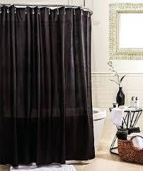 black microfiber shower curtain liner