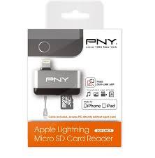 pny lightning micro sd card reader