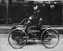henry ford american industrialist com henry ford s first car was the quadricycle seen here ford driving it had