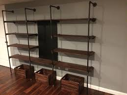 Pvc Pipe Bookshelf Homemade Modern Diy Pipe Shelves 9 Steps With Pictures