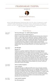 Technical Manager / Sr. Staff Quality Engineer Resume samples