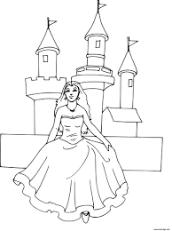 Coloriage Chateau Princesse Disney Dessin