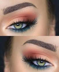makeup for green eyes a tale of two colors