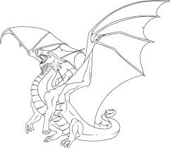 Dragon In Clouds Coloring Page Scary Pages Tingamedaycom