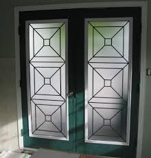 replacement glass for modern entry door Glass door insert