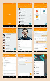 Chat Ui Design Android Chatting App Material Design Template On Behance