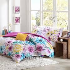 cute fl bedding sets pretty bed set theme matching curtai full size