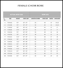 Choir Robe Size Chart Church Choir Robes With Pleasing Colors
