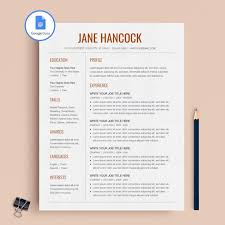 Resume On Google Docs Delectable Google Docs Resume Google Docs CV Google Docs Resume Etsy