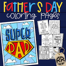 Print the coloured sheet and create a special card for your dad this father's day. Father S Day Printable Card Coloring Pages By Bricks And Border