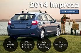 Subaru Model Comparison Chart Compare The 2014 Impreza To The Competition Burlington Subaru