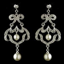 antique chandelier earrings infinity rhinestone pearl chandelier earrings elegant