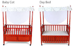 2 in 1 convertibility the strong and sy frame of the cot ensures an easy and convenient conversion to a day bed by following easy steps