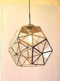 gold light fixtures glass geometric large pendant rose fixture coloured fittings l