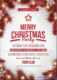 Christmas Flyer Templates 100 Best Christmas Party Flyers Print Templates 2018 Frip In