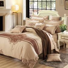 modern luxury bedding. Delighful Luxury Modern Brief Luxury Bedding Set 6Pcs Duvet CoverFitted Sheet4 Pillow  Cases Cotton Adult Embroidery Bed Sets High Qualityin From Home  For P