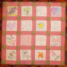 Baby shower idea. Have your guest design a quilt square using ... & A Baby shower Quilt - It is one helluva great idea to treasure those  memories and Adamdwight.com