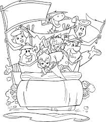 The Flintstones Coloring Pages Coloring Pages Pinterest