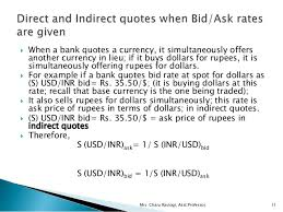 direct qoute foreign currency direct quote