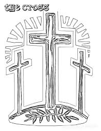 Free Coloring Pages Christian Easter Coloring Pages Jesus Cross