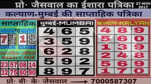 Jodi Chart Kalyan 02 12 2017 Achook Jodi Chart