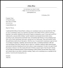 Maintenance Supervisor Cover Letter Sample Writing Guide Best