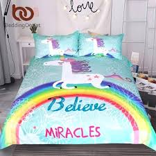 unicorn bed sheets unicorn bedding set believe miracles cartoon single bed duvet cover animal for kids unicorn bed sheets
