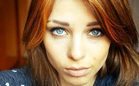 Tapety Tvář ženy Ryšavý Model Portrét Obarvené Vlasy Dlouhé