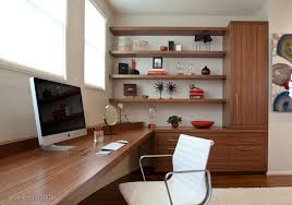 home office desk with storage. Modern Home Office With Built-In Desk + Storage Modern-home-office- U