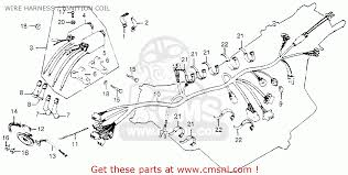 honda cb750k 750 four k 1978 usa wire harness ignition coil wire harness ignition coil schematic